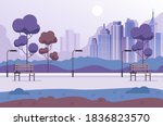 empty nobody public park... | Shutterstock .eps vector #1836823570