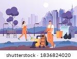 people man woman workers... | Shutterstock .eps vector #1836824020