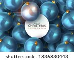blue background with christmas... | Shutterstock .eps vector #1836830443