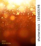 gold bokeh background | Shutterstock .eps vector #183683198