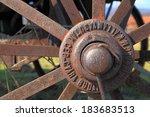 Aged Hub Of An Rusted Iron Wheel