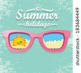 summer paradise beach... | Shutterstock .eps vector #183684449