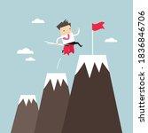 businessman climbing up...   Shutterstock .eps vector #1836846706