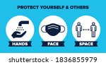 hands face space uk covid 19... | Shutterstock .eps vector #1836855979