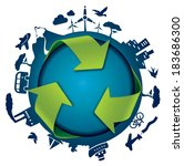 eco friendly template  ... | Shutterstock . vector #183686300