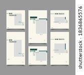 trendy editable template for... | Shutterstock .eps vector #1836865576