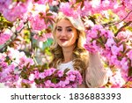 Pink Flowers Surrounding Her....
