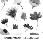 vector watercolor hand drawn... | Shutterstock .eps vector #183689060