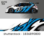 race car wrap decal graphic... | Shutterstock .eps vector #1836890800
