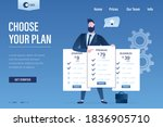 choose your plan  landing page... | Shutterstock .eps vector #1836905710