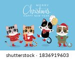 merry christmas and happy new... | Shutterstock .eps vector #1836919603