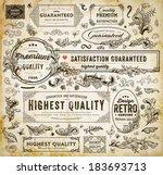 vector set of calligraphic... | Shutterstock .eps vector #183693713