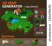 vector 3d map generator | Shutterstock .eps vector #183698630