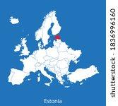vector map of the estonia | Shutterstock .eps vector #1836996160