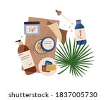 composition of natural organic...   Shutterstock .eps vector #1837005730