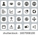 World Population Icons Black  ...