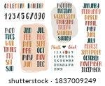 set of boho bullet journal or... | Shutterstock .eps vector #1837009249
