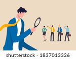 searching the best candidate or ... | Shutterstock .eps vector #1837013326