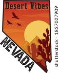 nevada desert vibes... | Shutterstock .eps vector #1837027909