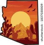 arizona desert vibes... | Shutterstock .eps vector #1837030009