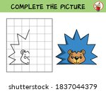 complete the picture of a funny ... | Shutterstock .eps vector #1837044379