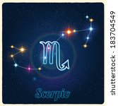 vector constellation scorpio... | Shutterstock .eps vector #183704549