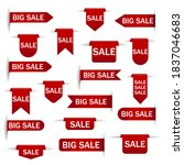 set of sale tags with text  ... | Shutterstock .eps vector #1837046683