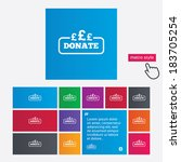 donate sign icon. pounds gbp... | Shutterstock .eps vector #183705254