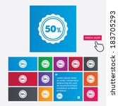 50 percent discount sign icon.... | Shutterstock .eps vector #183705293