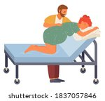 pregnancy preparing  wife and... | Shutterstock .eps vector #1837057846