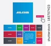 domain eu.com sign icon.... | Shutterstock .eps vector #183707423