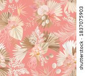 seamless tropic floral pattern  ... | Shutterstock .eps vector #1837075903
