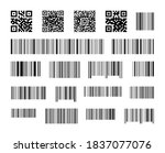 set of barcodes and qr codes.... | Shutterstock .eps vector #1837077076