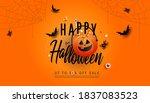 happy halloween sale banner... | Shutterstock .eps vector #1837083523