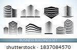 futuristic buildings set ... | Shutterstock .eps vector #1837084570
