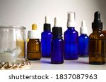 Group Of Transparent Vials And...