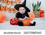Beautiful Baby Girl In Witch...