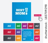 best mom ever sign icon. award... | Shutterstock .eps vector #183709298