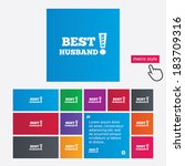 best husband ever sign icon.... | Shutterstock .eps vector #183709316