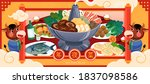 plentiful of food for the... | Shutterstock .eps vector #1837098586