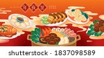 chinese new year family reunion ... | Shutterstock .eps vector #1837098589