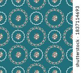 pretty vintage feedsack pattern ...   Shutterstock .eps vector #1837114693
