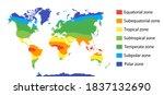 climate zones map scheme.... | Shutterstock .eps vector #1837132690
