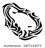 beautiful tribal tattoo... | Shutterstock .eps vector #1837133473