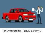 a happy businessman  salesman... | Shutterstock .eps vector #1837134940