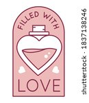 vector design filled with love...