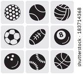 set of sports balls   Shutterstock .eps vector #183714368