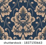 damask seamless pattern element.... | Shutterstock .eps vector #1837150663