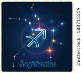vector constellation... | Shutterstock .eps vector #183715259
