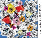 vector floral graffiti hand...   Shutterstock .eps vector #183715556